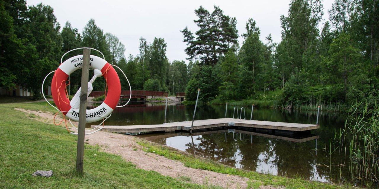 Baddammen i Järnforsen 2017
